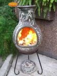 Earth Clay Chiminea By Gardeco - H115cm x D42cm