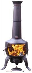Tia Steel And Cast Iron Chimenea By Gardeco - H137cm x D46cm