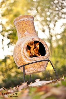 Yellow Sands Clay Chiminea - H68cm x D31cm