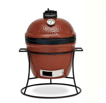 "Kamado Joe Portable 13.5"" Red Ceramic Barbecue with Stand"