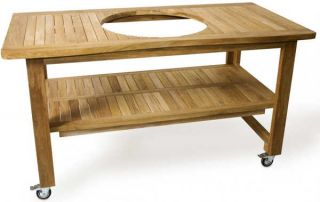 Kamado Joe Eucalyptus Table for Classic Joe Standalone Barbecue