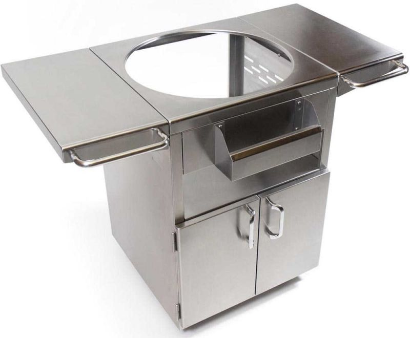 Kamado Joe Stainless Steel Table for Classic Joe Standalone Barbecue