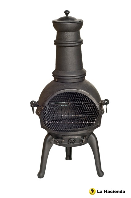 Sierra Cast Iron Chimenea (Medium) - H95cm x D40cm