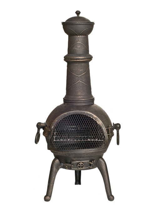 Sierra Cast Iron Chimenea - Large - H112cm x D42.5cm