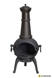 Lisbon Cast Iron Chimenea Large - H112cm x D42.5cm
