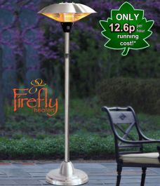 2.1kW IP44 Free Standing Halogen Patio Heater by Heatlab®