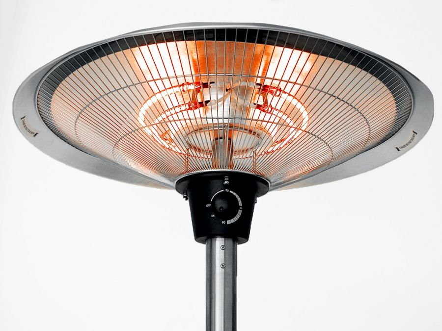 2 1kw Ip44 Free Standing Halogen Patio Heater By Firefly