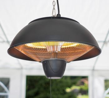 1.5KW Hanging Ceiling Black Electric Halogen Patio Heater by Firefly™