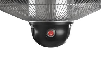 Firefly™ 2.1kW Ceiling Mounted Black Halogen Bulb Electric Infrared Patio Heater - Three Heat Settings with Remote Control