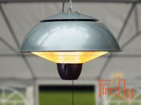 1.5kW Ceiling Mounted Silver Halogen Bulb Electric Infrared Patio Heater with Remote Control by Firefly™