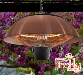 1.5kW IP34 Hanging Ceiling Copper Electric Halogen Patio Heater by Firefly™