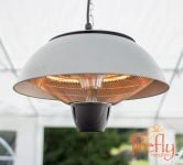 1.5kW Ceiling Mounted Silver Halogen Bulb Electric Infrared Patio Heater by Firefly™