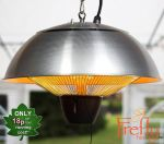 1.5kW Hanging Ceiling Stainless Steel Halogen Bulb Electric Infrared Patio Heater by Firefly™