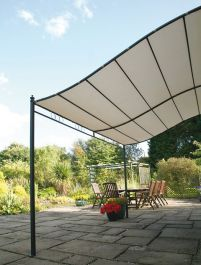 Wall Mounted Outdoor Dining Polyester Gazebo - Small