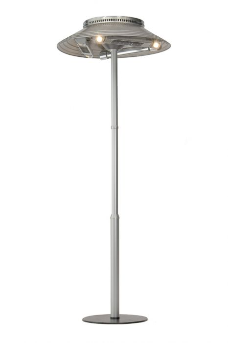 Burda 4.5kW Tower Halogen Bulb Infrared Electric Patio Heater with Lights