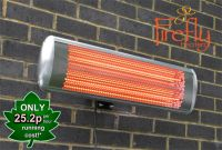 1.8kW Halogen Bulb Electric Infrared Wall Mounted Heater with Remote Control by Firefly™