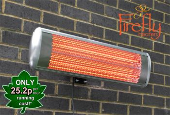 Firefly™ 1.8kW Halogen Bulb Electric Infrared Wall Mounted Heater with Remote Control
