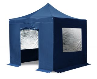 Side Walls and Door Only for Steel 3m x 3m Foldable Gazebo - Blue