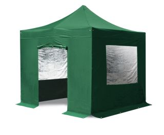 Standard 3m x 3m Foldable Pop Up Gazebo Set in Green - Complete With Carry Bag