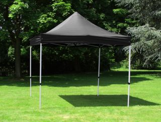 Standard 3m x 3m Foldable Pop Up Gazebo - Black