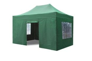 Side Walls and Door for Aluminium 3m x 4.5m Foldable Gazebo - Green
