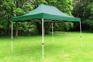 Standard 3m x 4.5m Foldable Pop Up Gazebo - Green