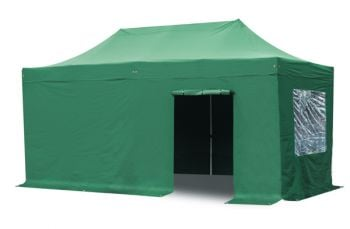 Side Walls and Door Only for Steel 3m x 6m Foldable Gazebo - Green