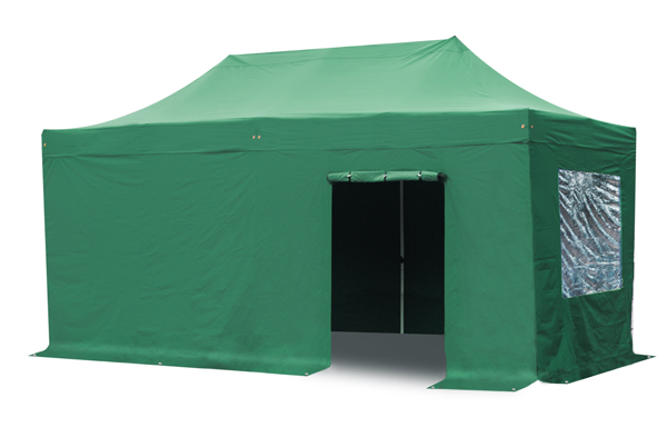 Standard 3m x 6m Foldable Pop Up Gazebo Set - Green