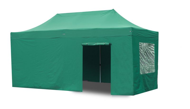 Side Walls and Door Only for Aluminium 3m x 6m Foldable Gazebo - Green