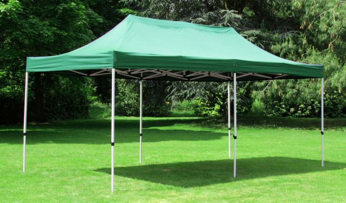 Standard 3m x 6m Foldable Pop Up Gazebo - Green