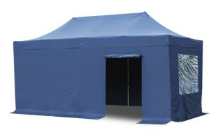 Standard 3m x 6m Foldable Pop Up Gazebo Set - Blue