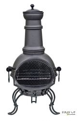 Murcia Black Steel Chimenea - Medium
