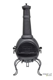 Murcia Black Steel Chimenea - Extra Large