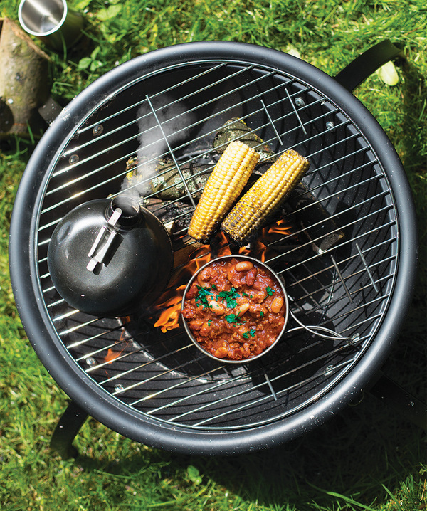 54cm Camping Firebowl BBQ with Folding Legs & Bag