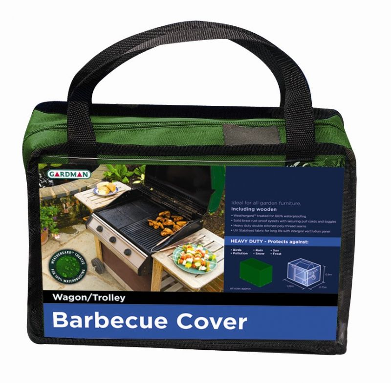 Gardman Heavy Duty Wagon/Trolley BBQ Cover H90cm x L122cm
