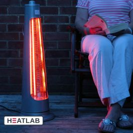 900W IPX4 Streamline Rotating Patio Heater with 2 Power Settings by Heatlab®