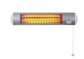 Firefly™ 1.8kW Wall Mounted Quartz Bulb Electric Infrared Heater with 3 Power Settings