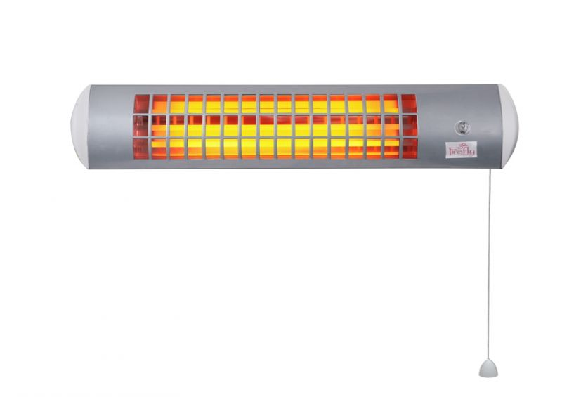 1.8kW Wall Mounted Quartz Bulb Electric Infrared Heater with 3 Power Settings by Firefly™