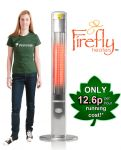 Firefly� 1.8kW Halogen Bulb Electric Infrared Slimline Patio Heater with Remote H1.6M