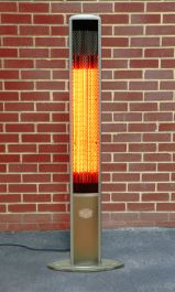 1.8kW IP55 Halogen Bulb Electric Infrared Slimline Patio Heater with Remote by Heatlab®