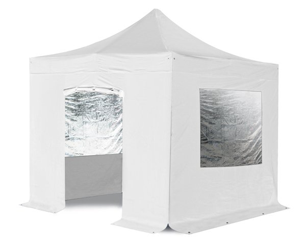 Standard 3m x 3m Foldable Pop Up Gazebo Set in White - Complete With Carry Bag