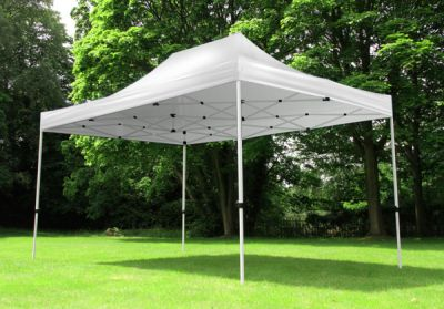 Standard 3m x 4.5m Foldable Pop Up Gazebo - White