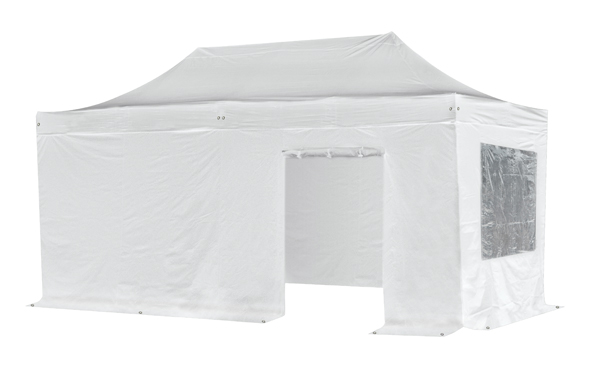Standard 3m x 6m Foldable Pop Up Gazebo Set - White