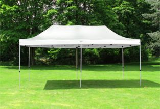 Standard 3m x 6m Foldable Pop Up Gazebo - White