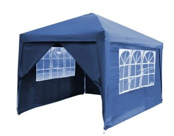 Side Walls and Door for Budget Steel 3m x 3m Foldable Gazebo - Blue