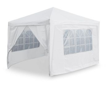 Side Walls and Door Only for Budget Steel 3m x 3m Foldable Gazebo - White