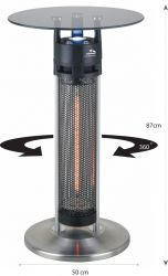 Cyclops I 1.6kW Homestyle 360 Degree Table Heater