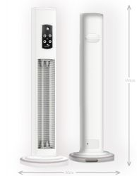 Hercules 3kW Freestanding Outdoor Patio Heater - White