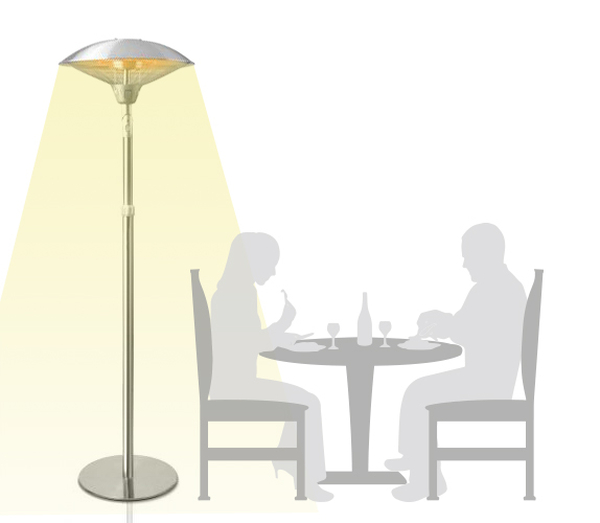 2.1kW Deluxe Tilting Freestanding Electric Patio Heater by Firefly™
