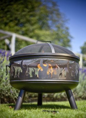 61cm Wildfire Steel Fire Bowl with Grill - by La Hacienda™